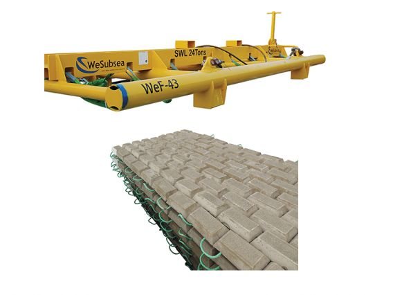 WeSubsea Concrete Mattresses / Lifting Frames